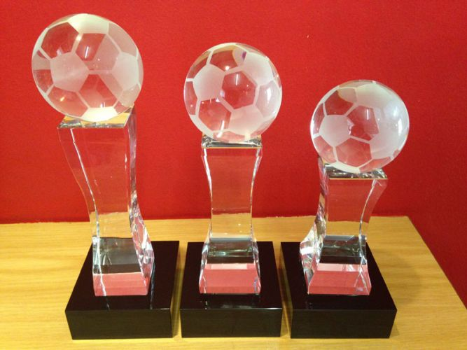 Code: G57 - Soccer Ball Crystal Award