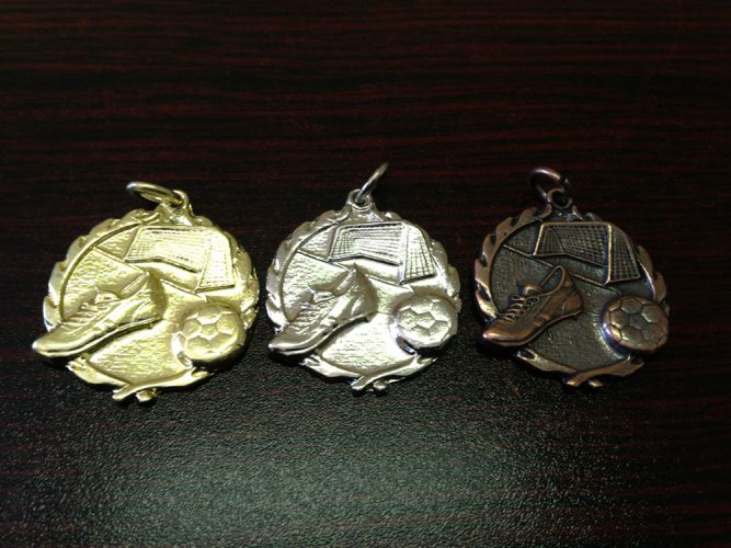 Code: Soccer Small Gold, Silver and Bronze