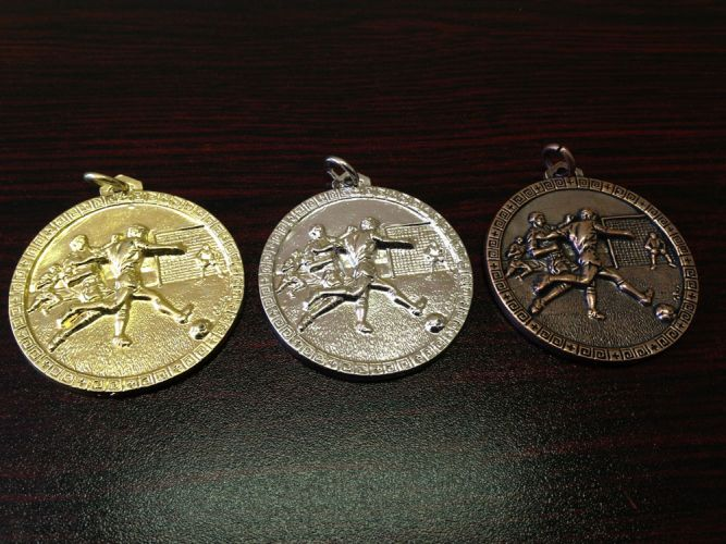 Code: Large Soccer Gold, Silver and Bronze